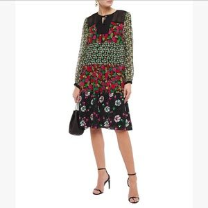 Anna Sui • Floral Print Georgette Dress